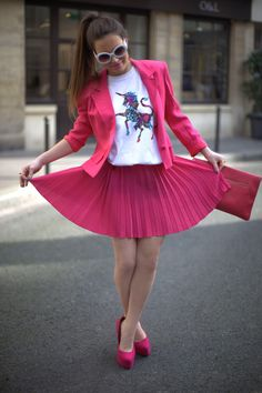 quirky pink 2017 outfit