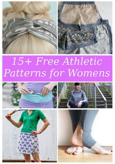 FREE PATTERN ALERT: 15+ Athletic Wear Patterns for the Women | On the Cutting Floor: Printable pdf sewing patterns and tutorials for women
