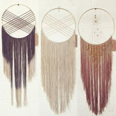 Modern Macrame Alterna Dream Catcher with Wooden by NaativStudios