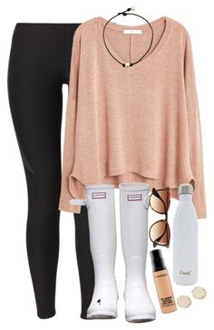 """""""gah so scared what even jeez louise"""" by elizabethannee ❤ liked on Polyvore featuring NIKE, MANGO, Hunter, J.Crew, S'well, MAC Cosmetics, Kendra Scott, women's clothing, women and female"""