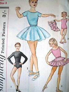 Girls Sewing Pattern for a cute tutu, leotard and a petticoat UK Seller Free domestic shipping Size 8