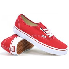 Vans Authentic (Red) Mens Skate Shoes