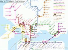 MTR_Map Hong Kong