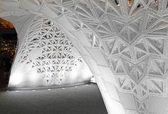 3D Printed White Architectural Pavilion – Fubiz Media