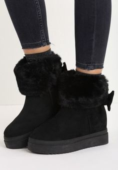 Cizme cu platforma Michi Negre Ugg Boots, Uggs, Winter, Lei, Shoes, Fashion, Silver, Winter Time, Moda