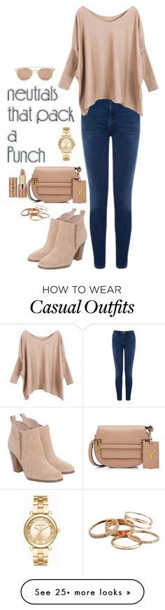 """Going casual"" by regiblueeyess on Polyvore featuring Warehouse, Michael Kors, Taylor Morris, Valentino, Kendra Scott and tarte"