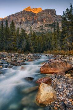 Dolomite Peak & Mosquito Creek by Chris Greenwood #alberta #banff #canada