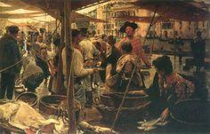 Ettore Tito, Pescheria vecchia a Rialto (1887)