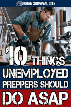 There are some positive steps you can take to help you stay afloat during this time of uncertainty. Here are 10 things unemployed preppers should be doing. Survival Items, Survival Mode, Urban Survival, Homestead Survival, Survival Prepping, Emergency Planning, Emergency Preparation, Zombie App, Kids Survival Skills