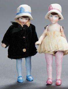 vintage dollhouse dolls