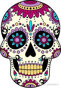 'skull purple' Photographic Print by Fabien photofab. Sugar Skull Artwork, Sugar Skull Painting, Body Painting, Sugar Skull Images, Sugar Skull Design, Sugar Skull Drawings, Day Of The Dead Artwork, Day Of The Dead Skull, Mexican Skulls