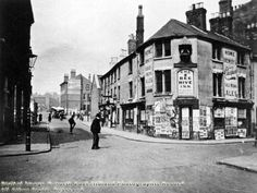 Millstone Lane, now Huntingdon Street Nottingham Old Pictures, Old Photos, Nottingham Pubs, John Merrick, The Past, Places To Visit, Street View, England, Family History