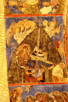Rich frescoes from the 10th century inside the Tokali Kilise (Buckle Church),Goreme Open-Air Museum, Turkey