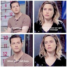 "Halstead: ""Everything okay?"" Lindsay: ""I came as soon as I got your message."" Halstead: ""Which one? I left three."" (2x23)"