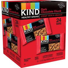 Kind Healthy Grains, Dark Chocolate Chunk, oz, Kosher Gluten-Free Non-GMO Healthy Grains, Healthy Snacks, Dark Chocolate Brands, Kind Bars, Chocolate Fudge Brownies, Costco, Grain Free, Food, Kitchen Dining