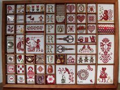 Ideas que mejoran tu vida Cross Stitch Samplers, Cross Stitch Charts, Cross Stitching, Small Cross Stitch, Cross Stitch Finishing, Blackwork Embroidery, Cross Stitch Embroidery, Letterpress Drawer, Print Box
