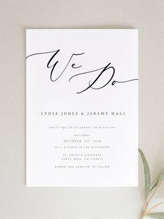 Wedding Invitation Template We Do Wedding Invite Wedding Wedding Invitation Size, Printable Wedding Invitations, Wedding Stationery, Invitation Design, Invites, Black And White Wedding Invitations, Wedding Tips, Wedding Cards, Wedding Invitations