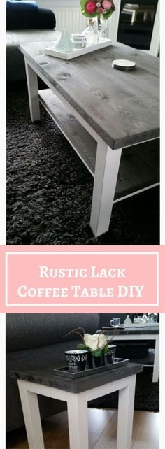 IKEA LACK Rustic Coffee Table DIY http://www.ikeahackers.net/2015/07/rustic-lack-coffee-table.html