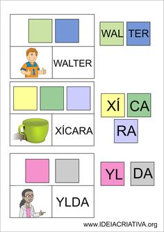 Flash Cards Letra Sílaba Autismo
