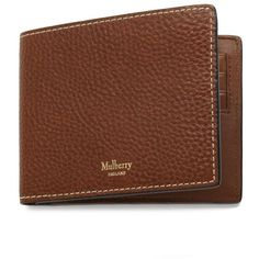 Mulberry 8 Card Wallet (290 AUD) ❤ liked on Polyvore featuring men's fashion, men's bags, men's wallets, oak, mens tri fold wallet, mulberry mens wallet, mens leather wallets and tri fold mens leather wallet