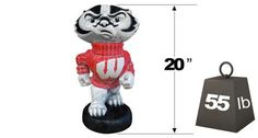 "Wisconsin ""Bucky Badger"" College Mascot 2786 By Henri Studio can be purchased at http://apollostatuary.com/index.php?main_page=product_info&cPath=1_77&products_id=923"