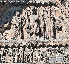Detalle de la Puerta de la Virgen Blanca, Catedral de León
