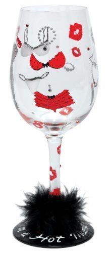 Lolita Love My Wine Glass, Hot Mama by Santa Barbara Design Studio Kitchen. $25.96. Lolita licensed hand painted wine glass with hot momma wine cooler recipe on the bottom of the stem. Holds 15-ounces; wine, wine cocktail or juice, holds even candy- don't limit the possibilities because they are endless..... Hand washing is recommended. Each glass is carefully hand painted; the vibrant colors and embellishments are applied with meticulous detail. Glasses ship in lolita's si...