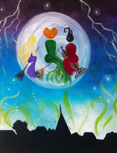Halloween Canvas Paintings, Fall Canvas Painting, Halloween Painting, Diy Canvas, Diy Painting, Painting & Drawing, Canvas Art, Canvas Ideas, Halloween Rocks