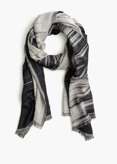 charcoal brushstroke scarf