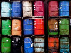 Trash Cans by isado via flickr: Art from trash cans. #Photography #Trash_Cans #isado #flickr