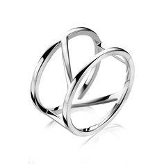 www.ellenjuwelier.nl ZINZI zilveren ring glad ZIR1099