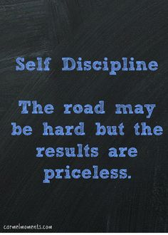 Word of the Year 2014 Self Discipline | Carmel Moments