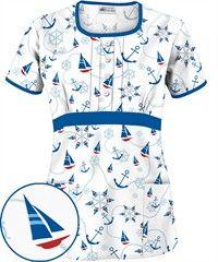 UA Sail Away White Round Neck Print Top $10.99 http://www.uniformadvantage.com/pages/prod/u845swt-print-scrub-top.asp?navbar=4