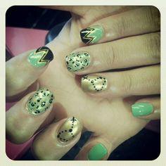 Rosary & cheetah mint gold
