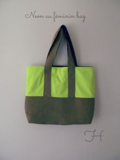 neon au féminin bag, created by Heureuse Gifts and Accessories, https://www.etsy.com/people/labelleheureuse?ref=si_pr