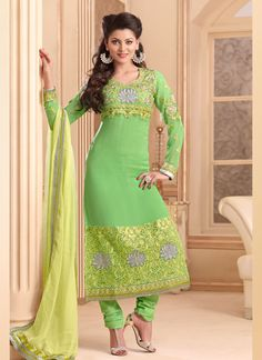 Amazing Sea Green Patch Border And Resham Work Churidar Suit, Product Code :6135, shop now http://www.sareesaga.com/amazing-sea-green-patch-border-and-resham-work-churidar-suit-6135  Email :support@sareesaga.com What's App or Call : +91-9825192886