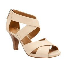 "Clarks 'Florine Sashae' Sandal, 2 3/4"" heel (5,160 PHP) ❤ liked on Polyvore featuring shoes, sandals, nude leather, high heel shoes, leather sandals, leather shoes, nude kitten heel shoes and clarks"