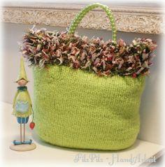 Große (Filz-) Tasche in Apfelgrün von  Feludara-Design auf DaWanda.com