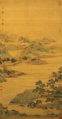 Qiu Ying (仇英) , 莲溪渔隐图
