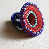 Необычные крупные кольца из бисера, много фото, дизайнер Мачихина Наталья.
