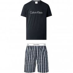 Calvin Klein Modern Cotton Pyjama Set, Black Top/Pierce Plaid Bottom Calvin KleinModern Cotton Pyjama Set, Black Top/Pierce Plaid Bottom Great Value PJ set including top and bottoms, comes in a display box Calvin Klein Logo on chest & rear neck of the Crew Neck Top Signature CK branding on the Waistband of the shorts with 2 pockets and button fly Top 95% Cotton, 5% Elastane, 100% Cotton Shorts Mens Sleepwear, Cotton Underwear, Cotton Pyjamas, Calvin Klein Men, Sporty Look, Pj Sets, Cotton Shorts, Pajama Set, Black Tops