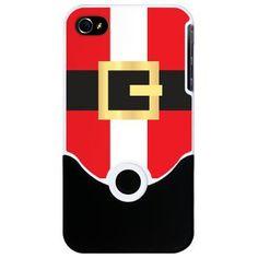 Santa Suit iPhone 4 slider Case $25 #christmas #iphone #santa