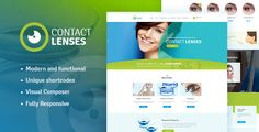 awesome Speak to Lenses Retailer &amp Vision Therapy Clinic WP Theme (Wellness &amp Beauty)