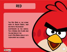 Red, the most iconic bird of all in the world's largest puzzle franchise based on two physics concepts: projectile motion and forces. Created by Rovio Entertainment, Ltd.