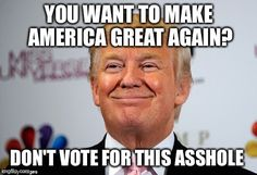 Donald trump approves | YOU WANT TO MAKE AMERICA GREAT AGAIN? DON'T VOTE FOR…
