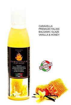 Crema Balsamica Gourmet Vaniglia e Miele Caravella Balsamic Glaze Vanilla&Honey