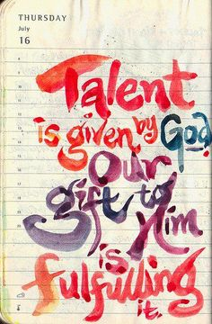 talent is given by God