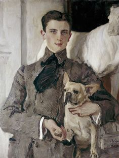 Count Felix Sumarokov-Elston (later Prince Felix Yousoupov, 1887-1967), purported assassin of Rasputin. His wife was a niece of Tsar Nicholas II. Portrait by Valentin Serov, 1903.