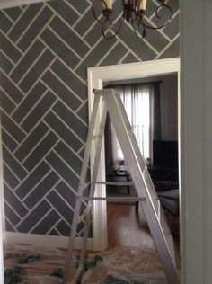 Painters Tape Accent Wall Using A Roller Paint Where You