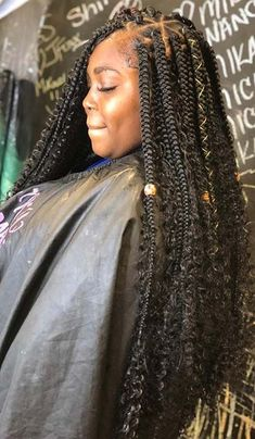 Top 60 All the Rage Looks with Long Box Braids - Hairstyles Trends Black Girl Braids, Braided Hairstyles For Black Women, Braids For Black Hair, Braids For Black Women Box, Goddess Hairstyles, Box Braids Hairstyles, Girl Hairstyles, School Hairstyles, Teenage Hairstyles